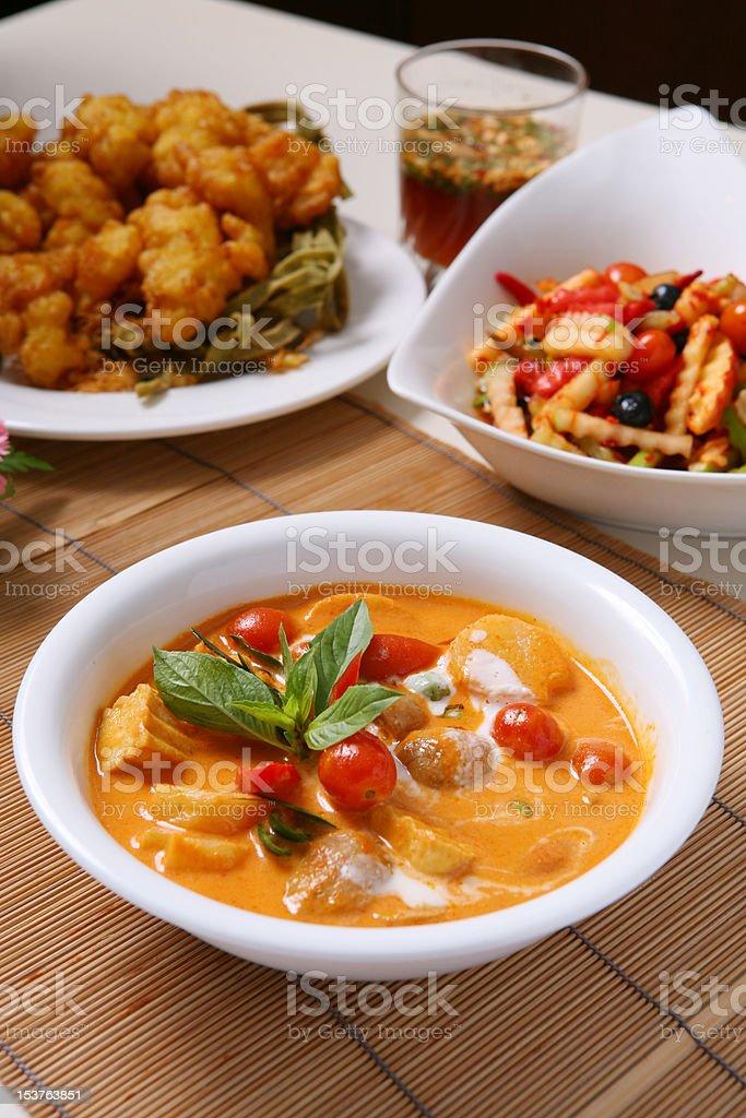 Kang Phed Ped Yang-Thai Food stock photo