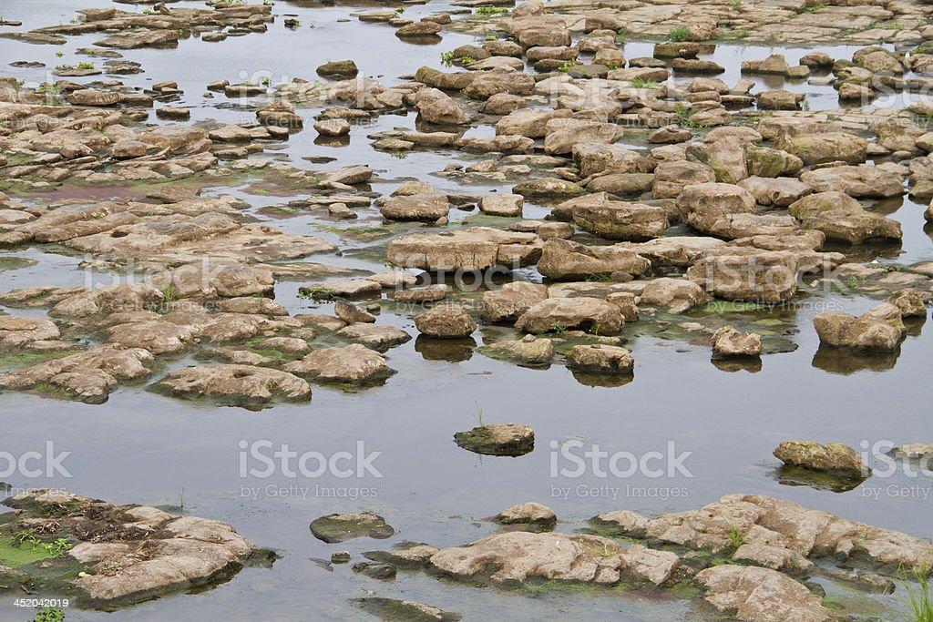 Kang Saphue or River rocks at Ubonratchathani, Thailand. royalty-free stock photo