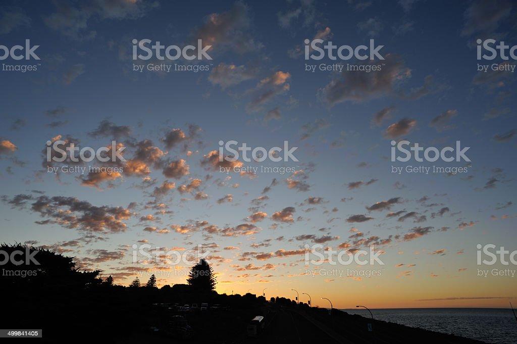Kangaroo Island, Sunset Hill royalty-free stock photo