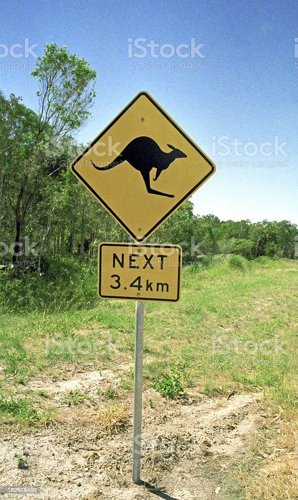 Kangaroo Sign Australia royalty-free stock photo