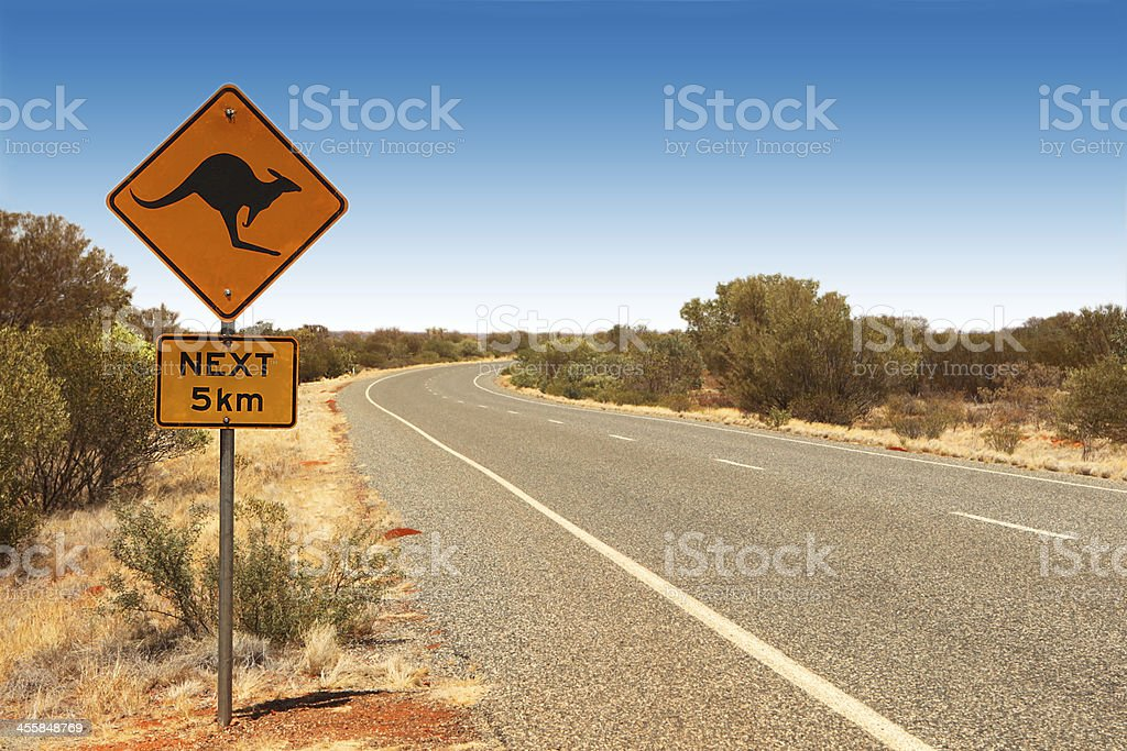 Kangaroo Sign Australia stock photo
