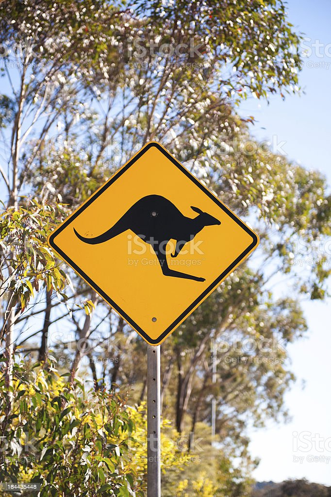 Kangaroo Sign stock photo