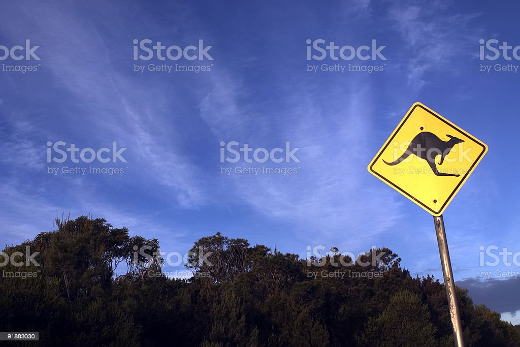 Kangaroo Sign royalty-free stock photo
