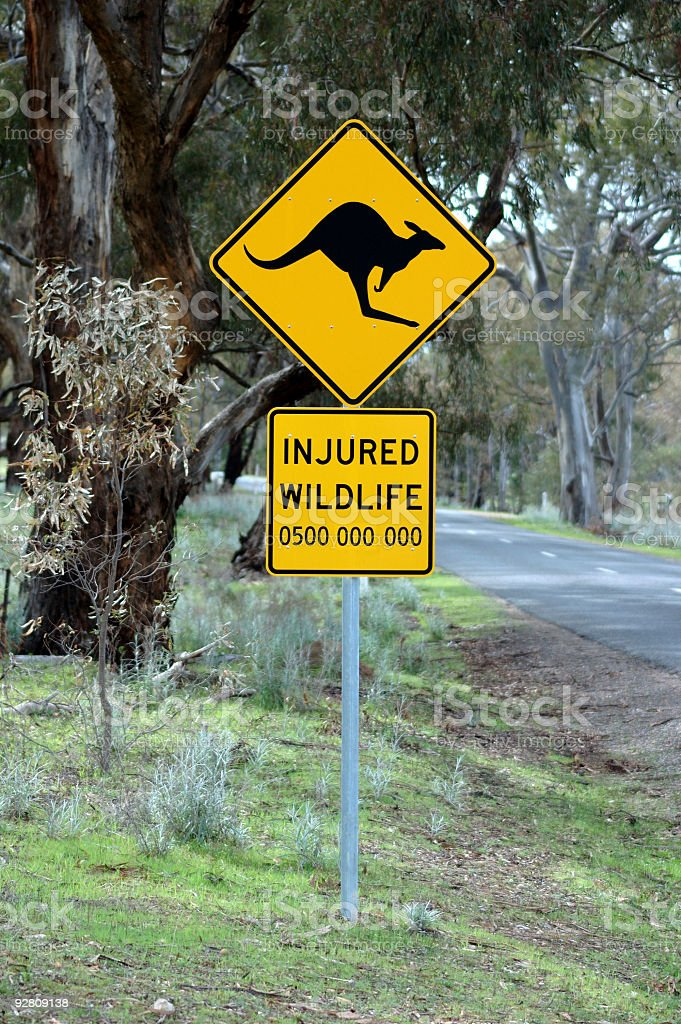 kangaroo sign. royalty-free stock photo