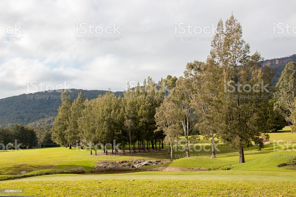 kangaroo valley golf course australia stock photo
