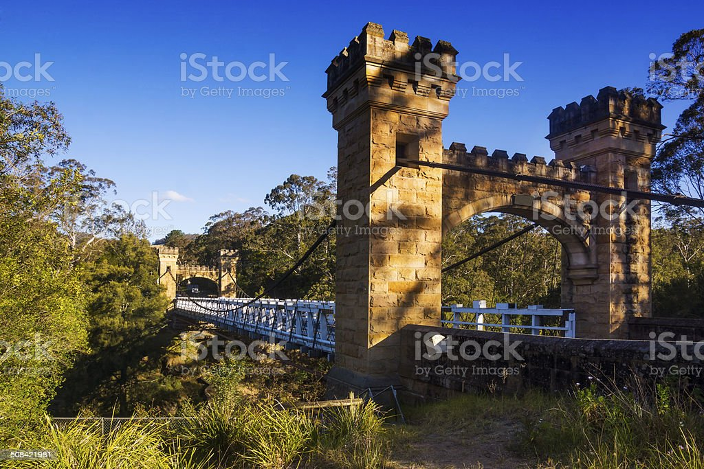 Kangaroo Valley - Hampden Bridge stock photo
