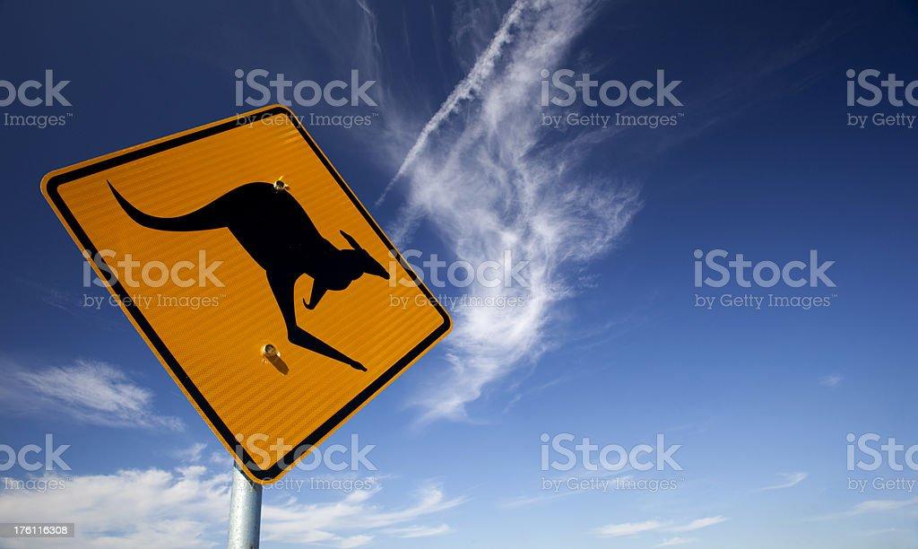 Kangaroo Warning royalty-free stock photo