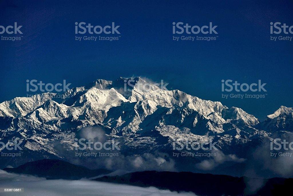 Kangchenjunga, Himalayas stock photo