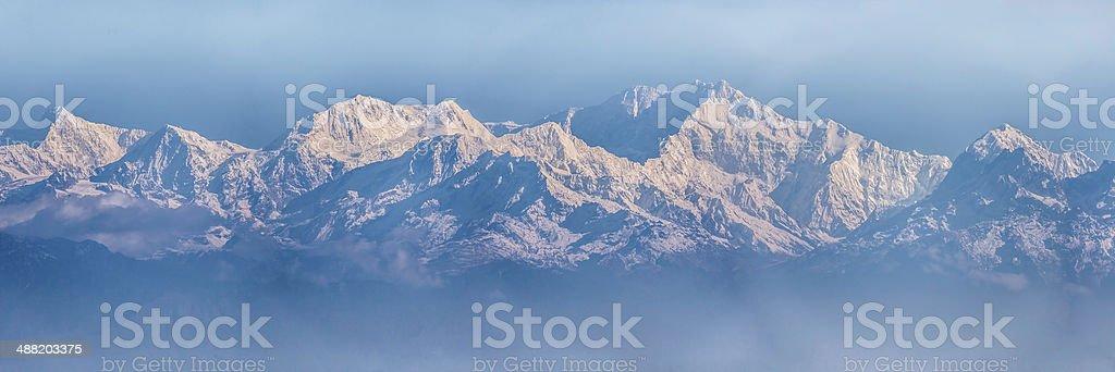Kangchenjunga range stock photo