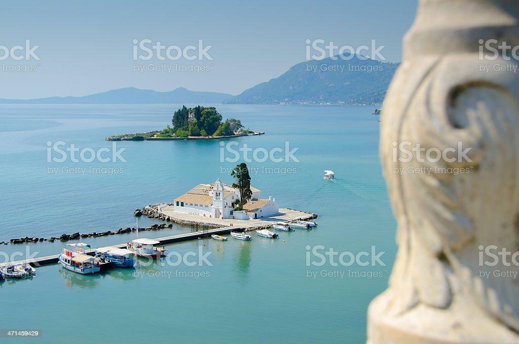 Kanoni Corfu stock photo