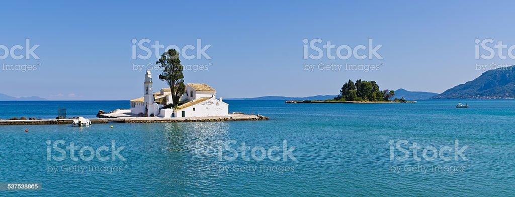 Kanoni in Corfu town, Greece stock photo