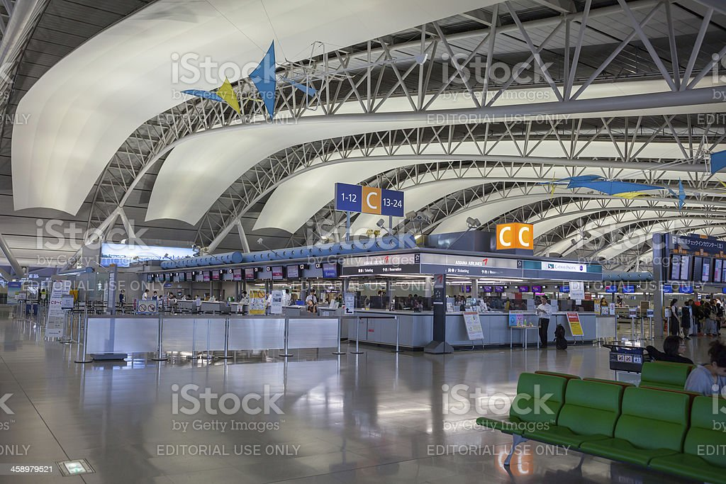 Kansai International Airport in Japan royalty-free stock photo