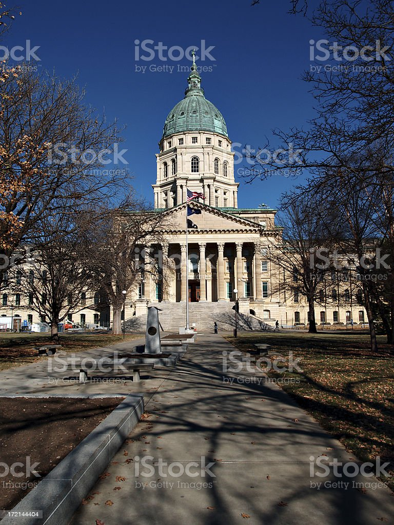 Kansas Capitol south entrance royalty-free stock photo