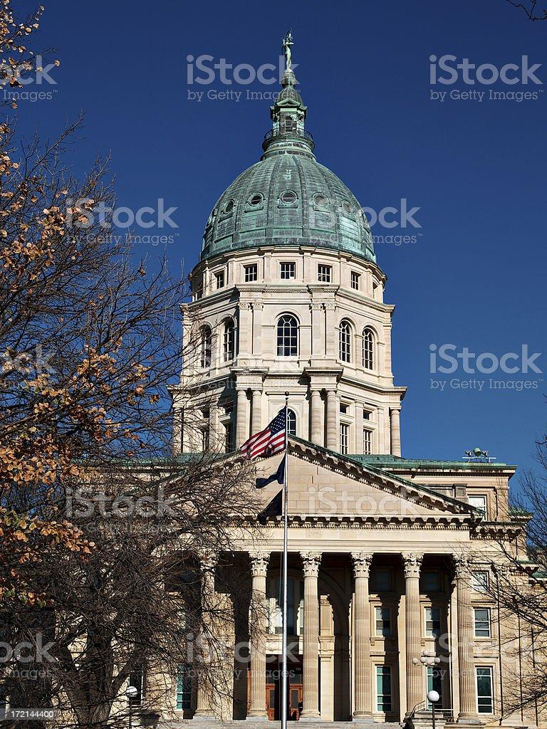 Kansas Capitol south face royalty-free stock photo