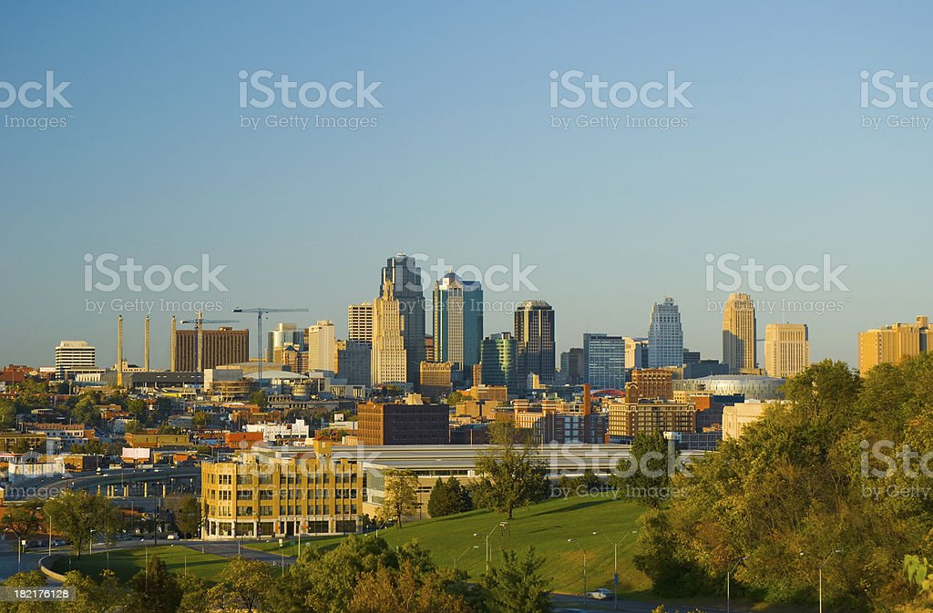 Kansas City at late afternoon stock photo
