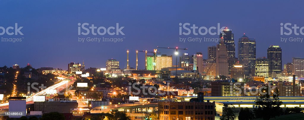 Kansas City at Twilight (XXL) royalty-free stock photo