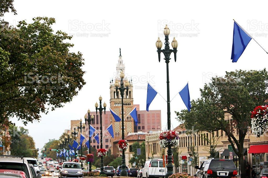 Kansas City Country Club Plaza stock photo