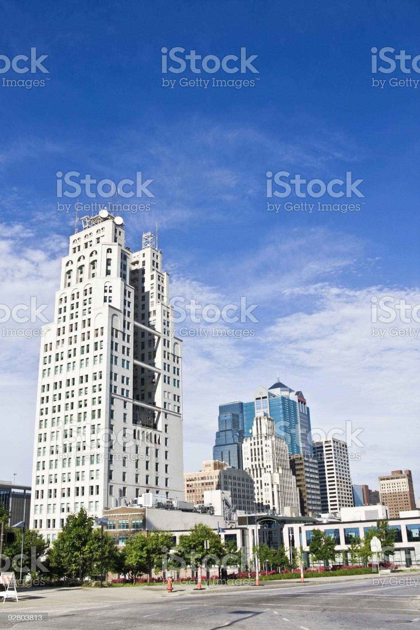 Kansas City - downtown royalty-free stock photo
