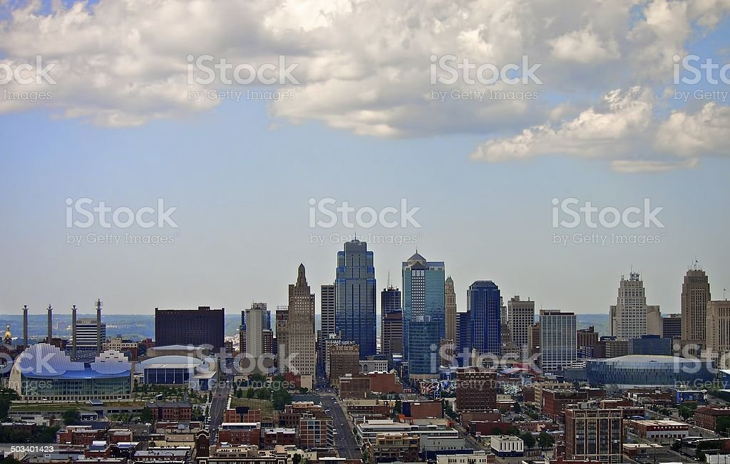 Kansas City Downtown Skyline stock photo