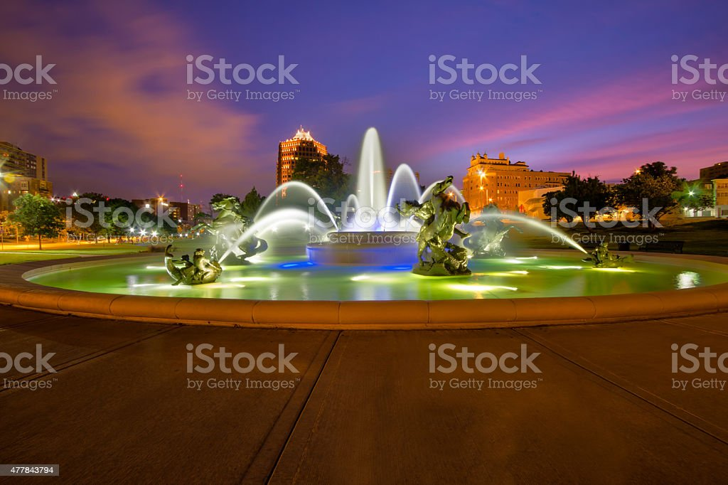 Kansas City Fountains stock photo