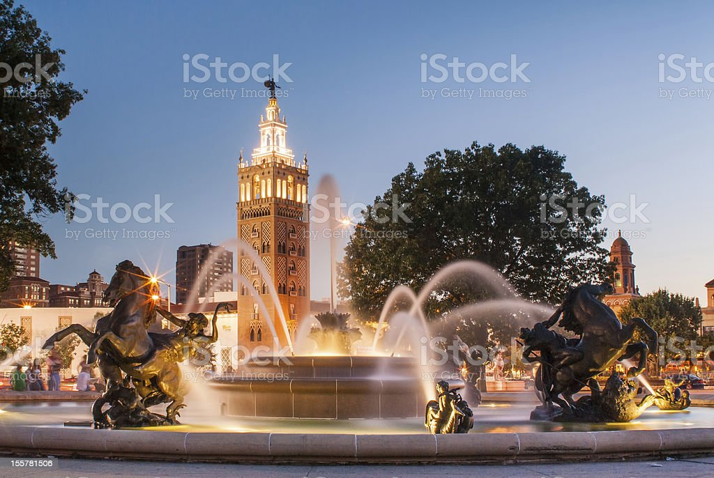 Kansas City Missouri Fountain at Country Club Plaza stock photo