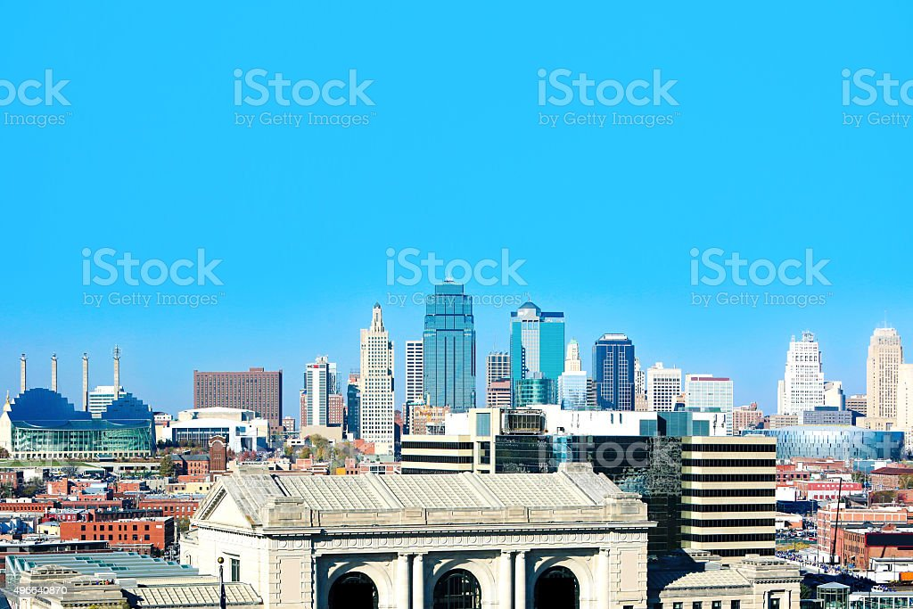 Kansas City Missouri Skyline stock photo