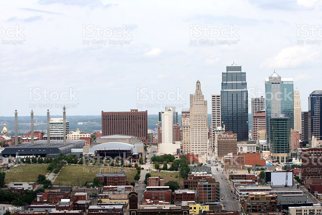 Kansas City Missouri Skyline stock photo