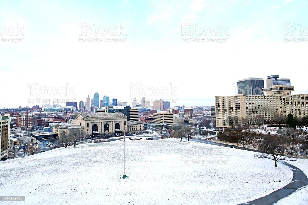 Kansas City Missouri Snow stock photo