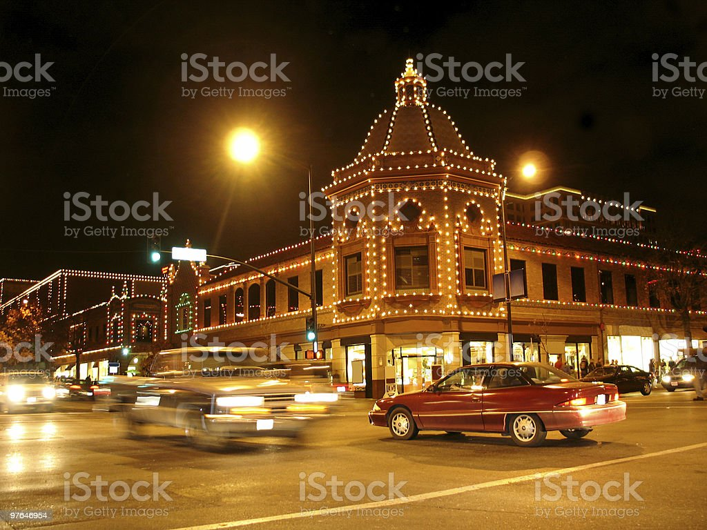 Kansas City Plaza Lights royalty-free stock photo
