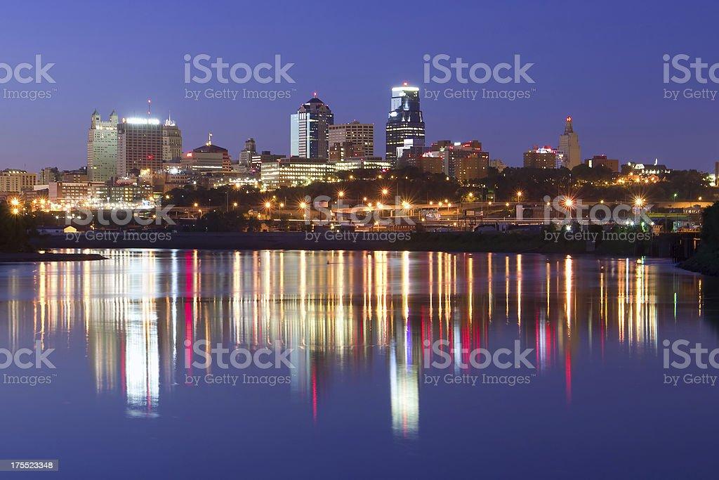 Kansas City Reflections royalty-free stock photo