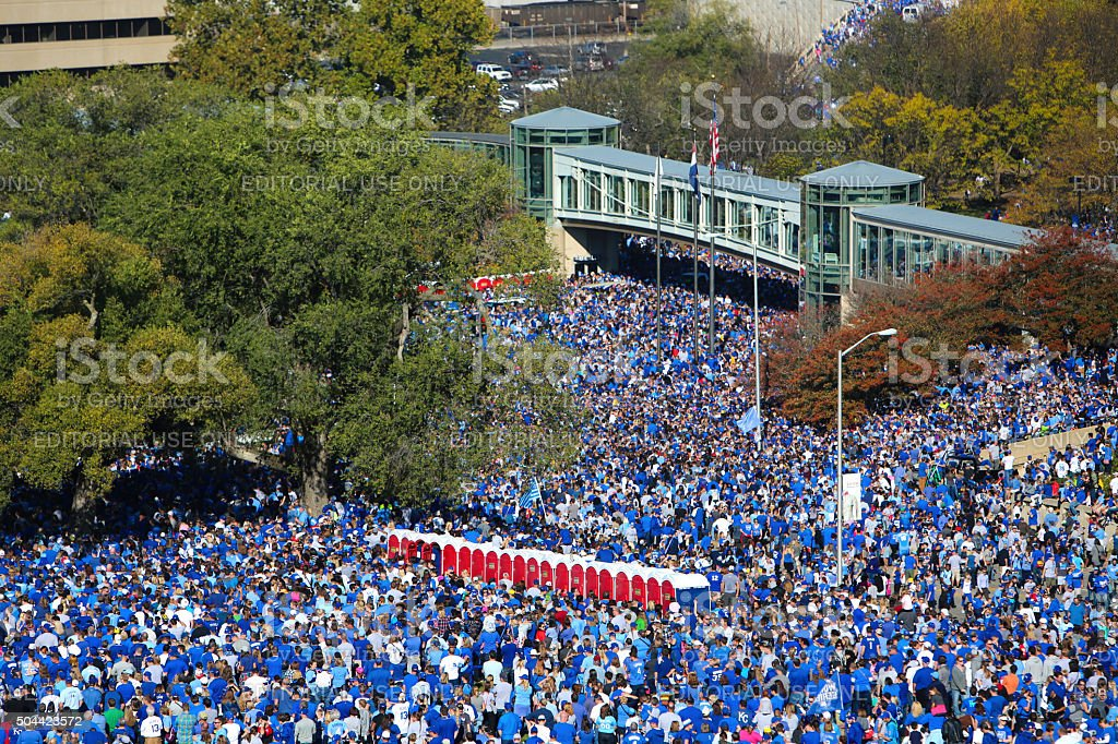 Kansas City Royals World Series Celebration 2015 stock photo