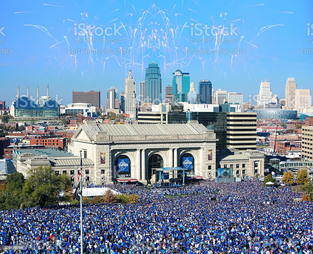 Kansas City Royals World Series Celebration 2015 stock photo