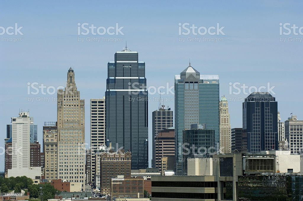 Kansas City Skyline 4 royalty-free stock photo