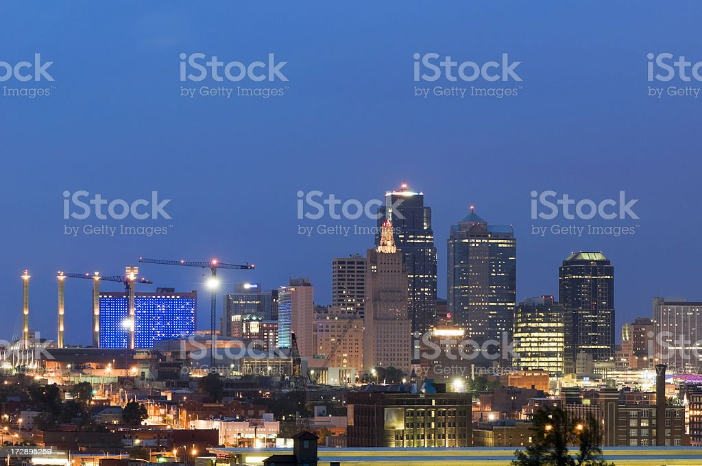 Kansas City Skyline at Dusk royalty-free stock photo