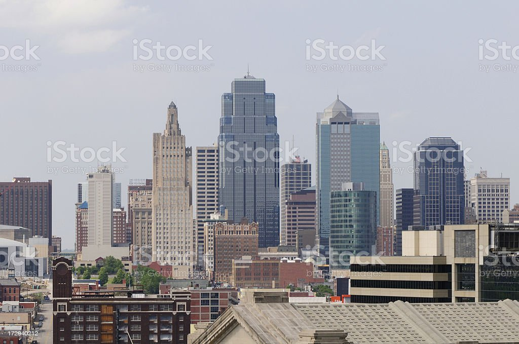 Kansas City Skyline royalty-free stock photo