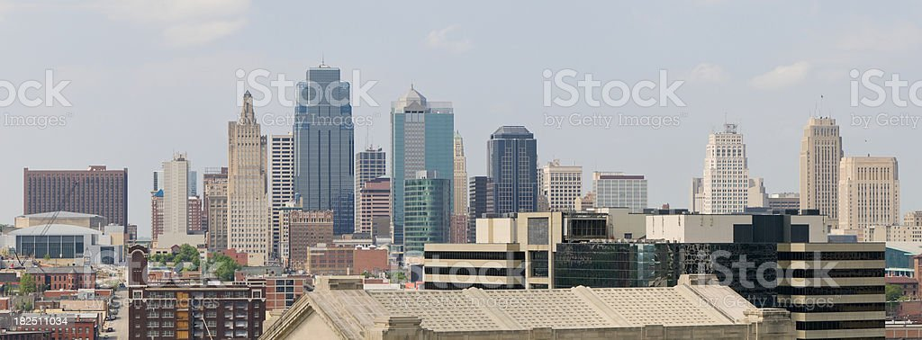 Kansas City Skyline (XXXL) royalty-free stock photo
