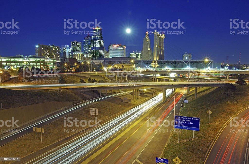 Kansas City, Summit Street view stock photo