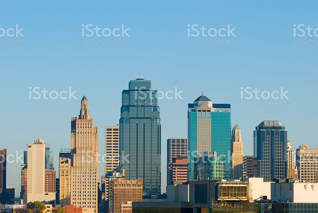 Kansas City's downtown skyline in the daytime royalty-free stock photo