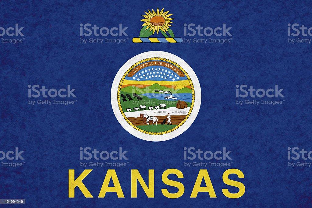 Kansas flag royalty-free stock photo