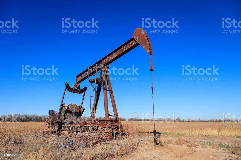 Kansas Oil Well stock photo