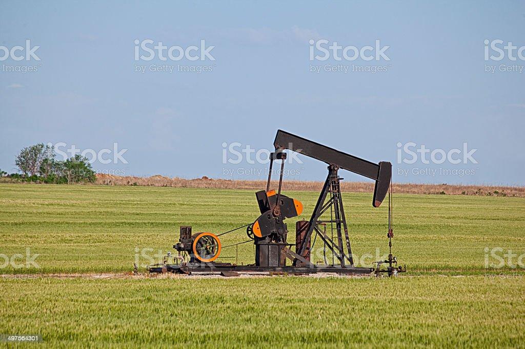 Kansas Oil Well royalty-free stock photo
