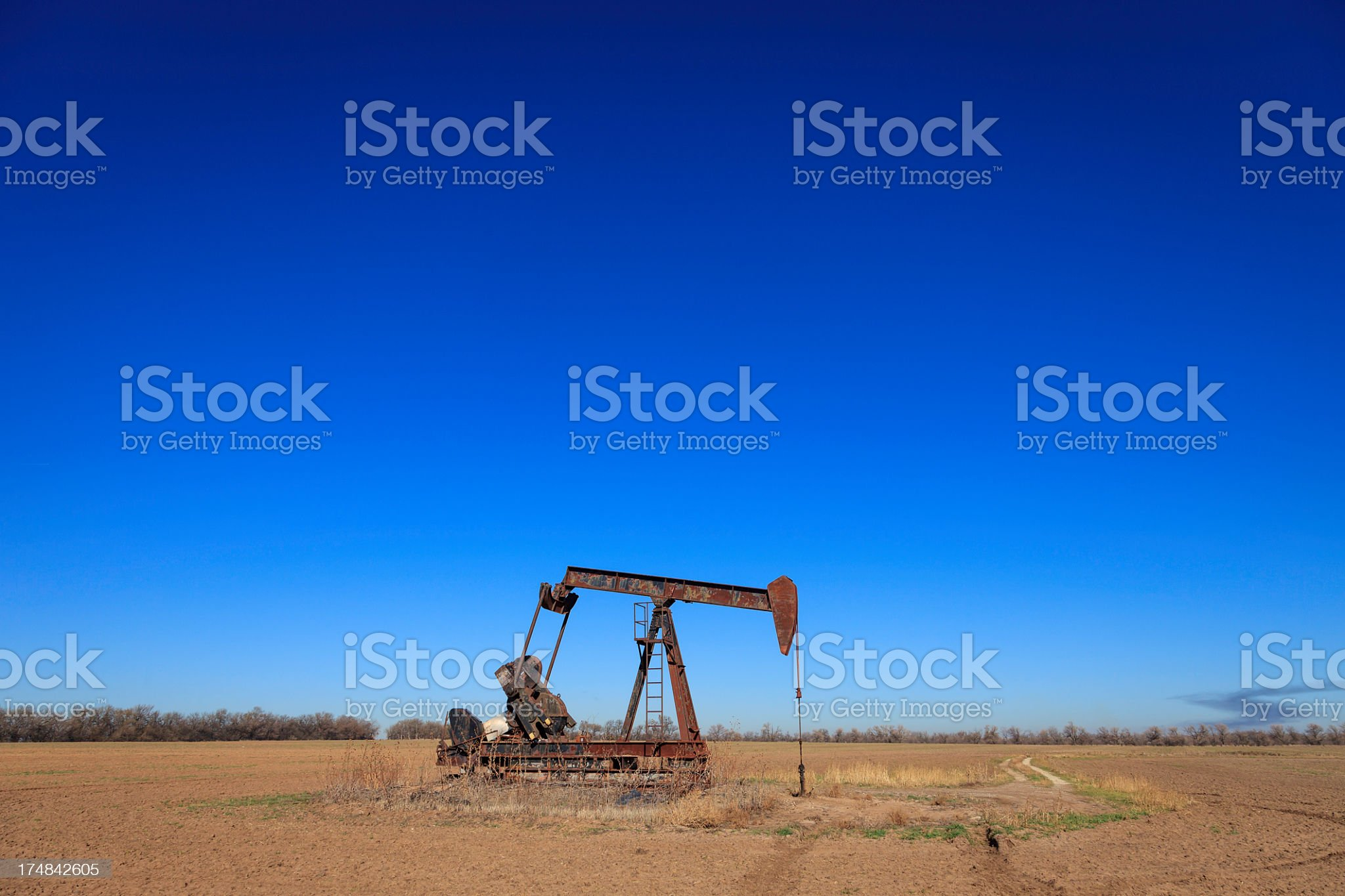 Kansas Pumpjack royalty-free stock photo