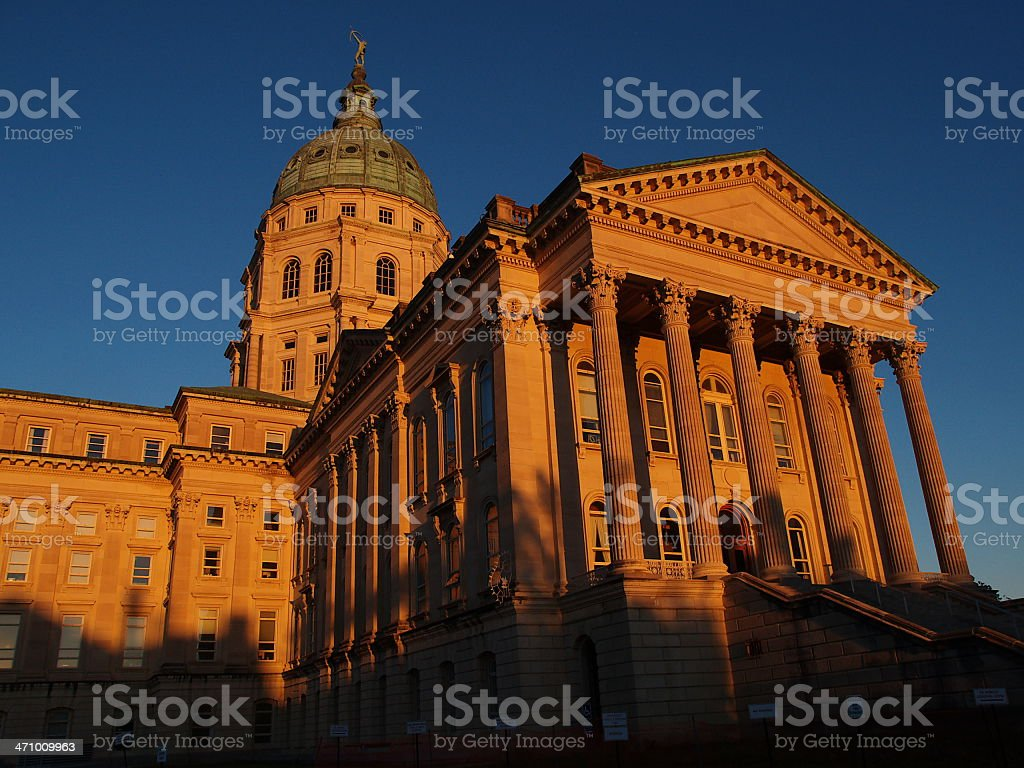 Kansas State Capitol building royalty-free stock photo