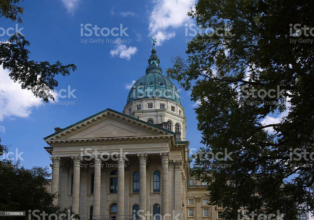 Kansas State Capitol Building Topeka royalty-free stock photo