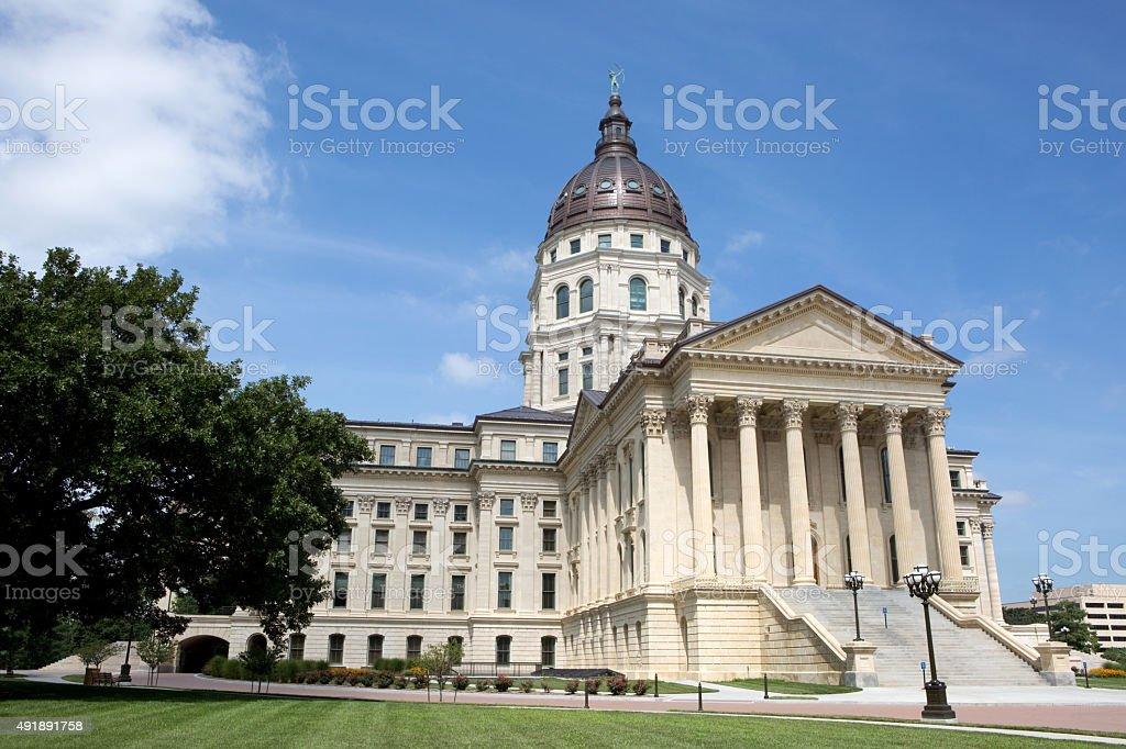 Kansas State Capitol stock photo