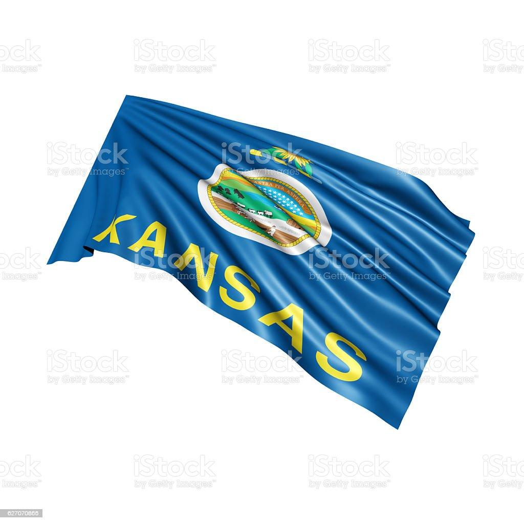 Kansas State Flag stock photo