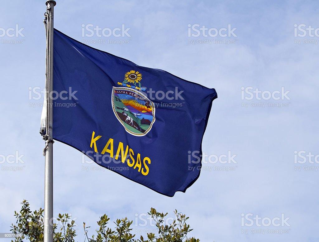 Kansas State Flag royalty-free stock photo
