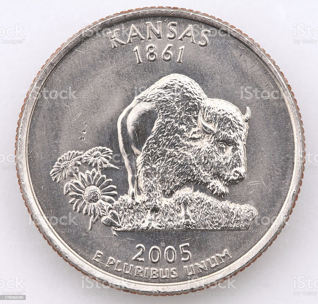 Kansas State Quarter royalty-free stock photo
