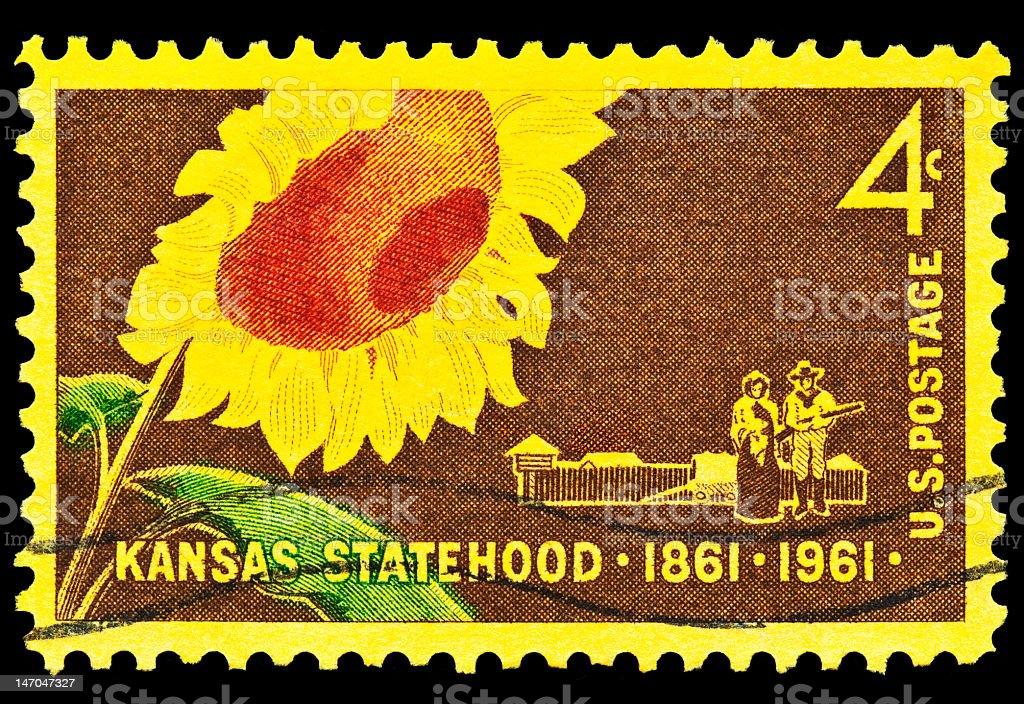 Kansas Statehood issue royalty-free stock photo