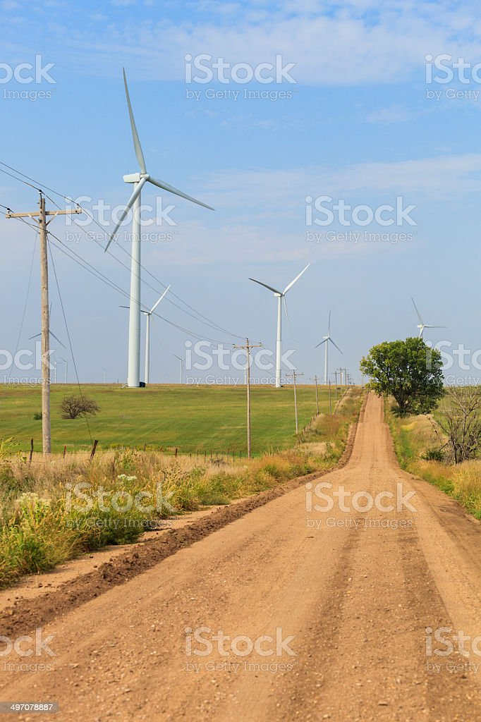 Kansas Wind Farm royalty-free stock photo